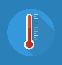 Weather Flat Icon Thermometer vector