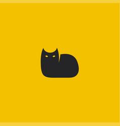 black cat logo template vector image vector image