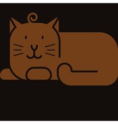 cat icon vector image vector image