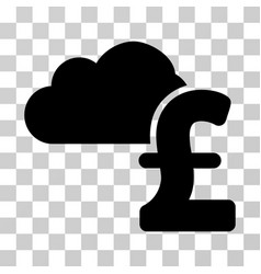 cloud pound banking icon vector image vector image