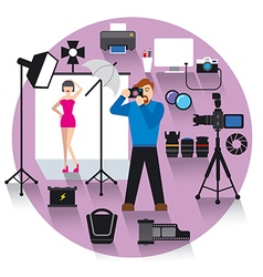 photo studio concept icon vector image
