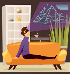 pyramids virtual reality orthogonal composition vector image vector image