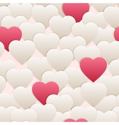 seamless pattern hart white pink vector image vector image