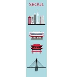 Set of Seoul symbols vector image