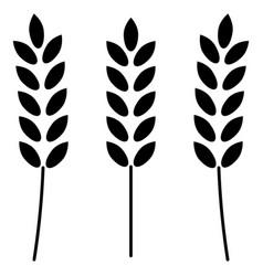 Wheat the black color icon vector