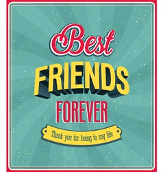 Best friends forever typographic design vector image vector image