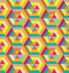 colorful hexagon seamless vector image vector image
