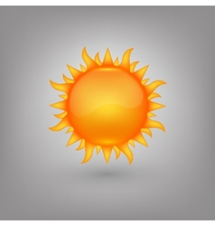 Icon weather Sun vector image
