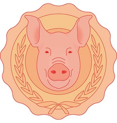Mounted Pig Head vector image
