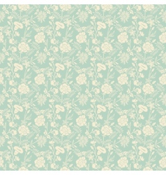 Seamless abstract floral pattern background vector image vector image