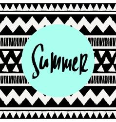 Summer Tribal Design vector image vector image