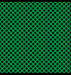 tile pattern with black polka dots on green vector image vector image