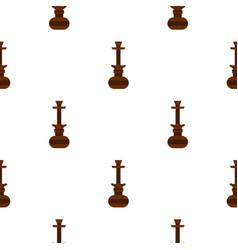 Brown arabic hookah pattern seamless vector