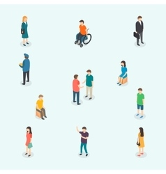 people Set of woman and man vector image