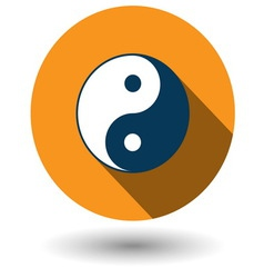 Ying Yang icon in flat style vector image vector image