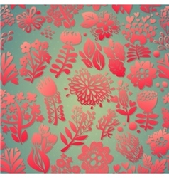 Flowers seamless pattern decorative card vector image