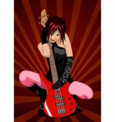 girl rocker vector image vector image