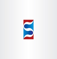 red blue logo letter s logotype s icon element vector image vector image