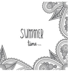 summer time - hand drawn brush text handmade vector image vector image