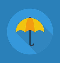 Weather Flat Icon Umbrella vector image vector image