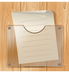 Wood glass paper vector image