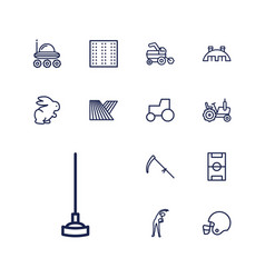 13 field icons vector