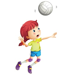 A girl playing volleyball vector image