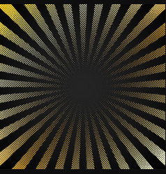 Abstract retro shiny starburst black background vector