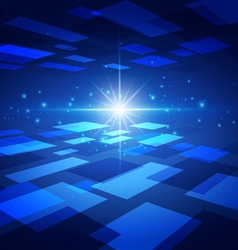 Abstract Technology Blue Background with Bright vector image