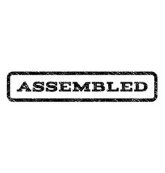 assembled watermark stamp vector image