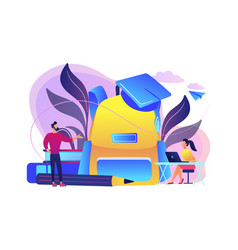 Back to school 2018-2019 concept vector