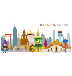 Bangkok Thailand and Landmarks vector