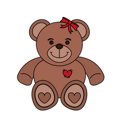 bear toy child vector image