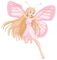 Beautiful flying fairy vector