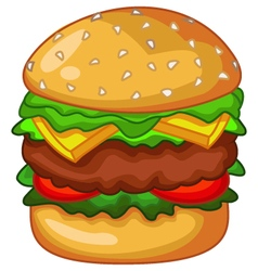Big burger vector