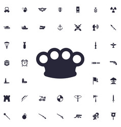 Brass knuckles icon vector