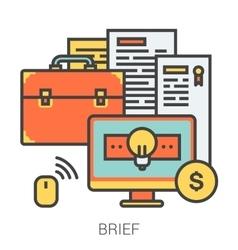 Brief line icons vector image