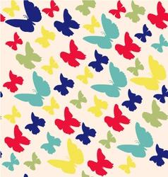 Butterflies pattern on light background vector