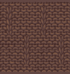 Caterpillar brown stitch pattern vector