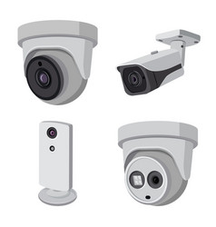 Cctv and camera icon vector