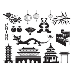 China Mono Objects Set vector