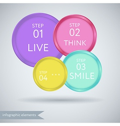 Circle style step options banner vector image