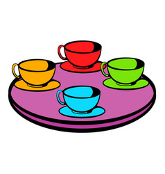 Coffee-cup carousel icon icon cartoon vector
