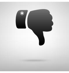 Dislike sign black icon vector image