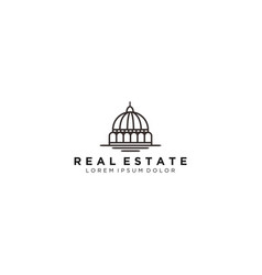 Dome building - real estate logo vector