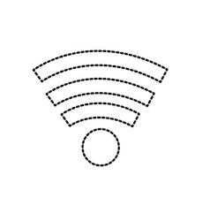 dotted shape wifi technology to connect in the vector image