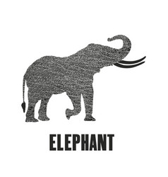 Elephant isolated on a white background vector