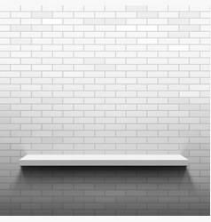 empty shelf on a brick wall vector image