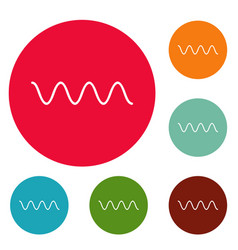 equalizer electronic icons circle set vector image