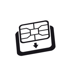 Esim to nano sim card adapter icon phone sim-card vector